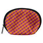 Vibrant Retro Diamond Pattern Accessory Pouches (Medium)  Front