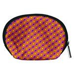 Vibrant Retro Diamond Pattern Accessory Pouches (Medium)  Back