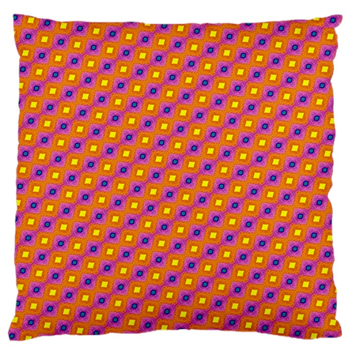 Vibrant Retro Diamond Pattern Standard Flano Cushion Case (One Side)