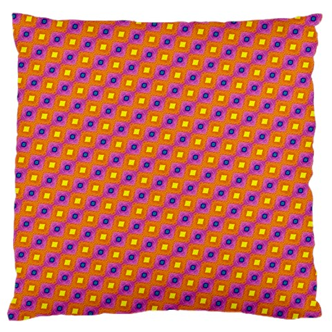 Vibrant Retro Diamond Pattern Standard Flano Cushion Case (Two Sides)