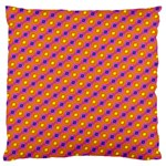 Vibrant Retro Diamond Pattern Large Flano Cushion Case (Two Sides) Back