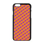 Vibrant Retro Diamond Pattern Apple iPhone 6/6S Black Enamel Case Front