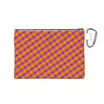 Vibrant Retro Diamond Pattern Canvas Cosmetic Bag (M) Back
