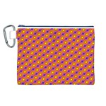 Vibrant Retro Diamond Pattern Canvas Cosmetic Bag (L) Front
