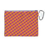 Vibrant Retro Diamond Pattern Canvas Cosmetic Bag (XL) Back