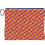 Vibrant Retro Diamond Pattern Canvas Cosmetic Bag (XXXL) Front
