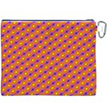 Vibrant Retro Diamond Pattern Canvas Cosmetic Bag (XXXL) Back