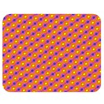 Vibrant Retro Diamond Pattern Double Sided Flano Blanket (Medium)  60 x50 Blanket Front