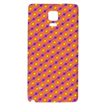 Vibrant Retro Diamond Pattern Galaxy Note 4 Back Case Front