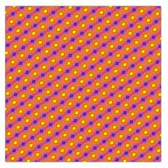 Vibrant Retro Diamond Pattern Large Satin Scarf (Square)