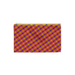 Vibrant Retro Diamond Pattern Cosmetic Bag (xs)