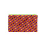 Vibrant Retro Diamond Pattern Cosmetic Bag (XS) Back