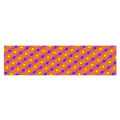 Vibrant Retro Diamond Pattern Satin Scarf (Oblong)