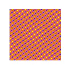 Vibrant Retro Diamond Pattern Small Satin Scarf (square)