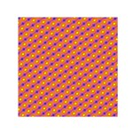 Vibrant Retro Diamond Pattern Small Satin Scarf (Square)  Front