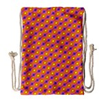 Vibrant Retro Diamond Pattern Drawstring Bag (Large) Front