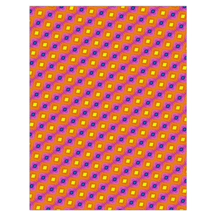 Vibrant Retro Diamond Pattern Drawstring Bag (Large)