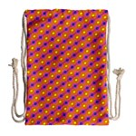 Vibrant Retro Diamond Pattern Drawstring Bag (Large) Back