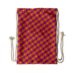 Vibrant Retro Diamond Pattern Drawstring Bag (Small) Back