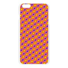 Vibrant Retro Diamond Pattern Apple Seamless iPhone 6 Plus/6S Plus Case (Transparent)