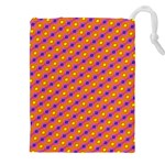 Vibrant Retro Diamond Pattern Drawstring Pouches (XXL) Front