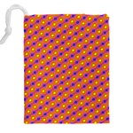 Vibrant Retro Diamond Pattern Drawstring Pouches (XXL) Back