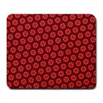 Red Passion Floral Pattern Large Mousepads Front