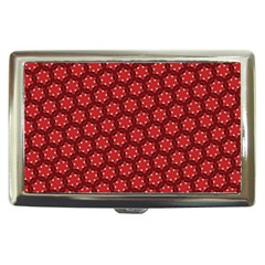 Red Passion Floral Pattern Cigarette Money Cases