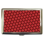 Red Passion Floral Pattern Cigarette Money Cases Front