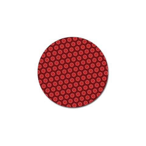Red Passion Floral Pattern Golf Ball Marker (4 pack)