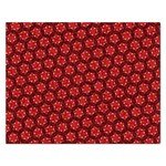 Red Passion Floral Pattern Rectangular Jigsaw Puzzl Front