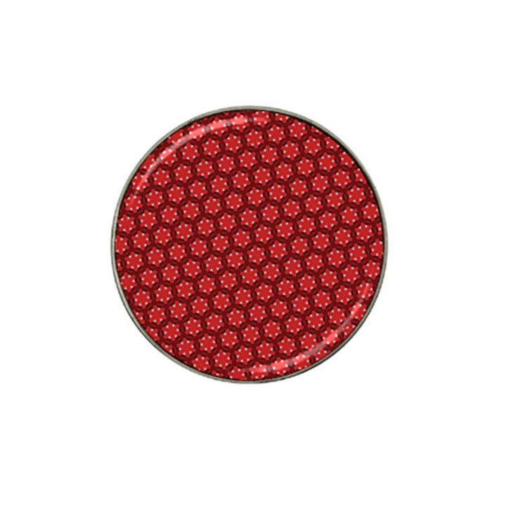 Red Passion Floral Pattern Hat Clip Ball Marker (10 pack)
