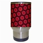 Red Passion Floral Pattern Travel Mugs (White) Center