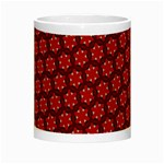 Red Passion Floral Pattern Night Luminous Mugs Center