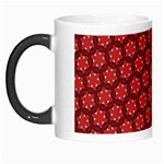 Red Passion Floral Pattern Morph Mugs Left