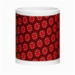 Red Passion Floral Pattern Morph Mugs Center