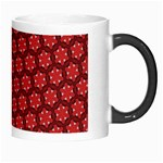 Red Passion Floral Pattern Morph Mugs Right