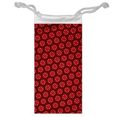 Red Passion Floral Pattern Jewelry Bags