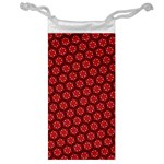 Red Passion Floral Pattern Jewelry Bags Front