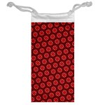 Red Passion Floral Pattern Jewelry Bags Back