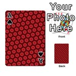 Red Passion Floral Pattern Playing Cards 54 Designs  Front - SpadeA