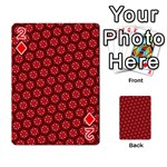 Red Passion Floral Pattern Playing Cards 54 Designs  Front - Diamond2