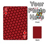 Red Passion Floral Pattern Playing Cards 54 Designs  Front - Diamond4