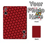 Red Passion Floral Pattern Playing Cards 54 Designs  Front - SpadeJ