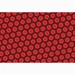 Red Passion Floral Pattern Collage Prints 18 x12 Print - 3