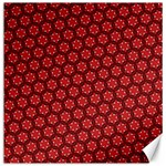 Red Passion Floral Pattern Canvas 12  x 12   12 x12 Canvas - 1