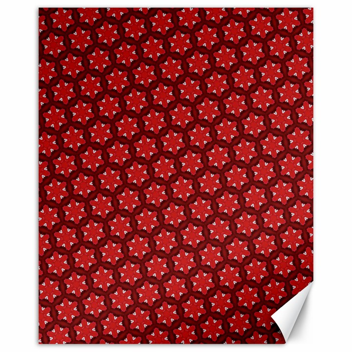 Red Passion Floral Pattern Canvas 16  x 20