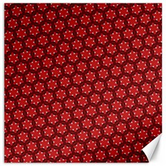 Red Passion Floral Pattern Canvas 20  X 20