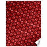 Red Passion Floral Pattern Canvas 18  x 24   24 x18 Canvas - 1