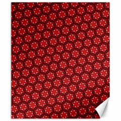 Red Passion Floral Pattern Canvas 20  X 24